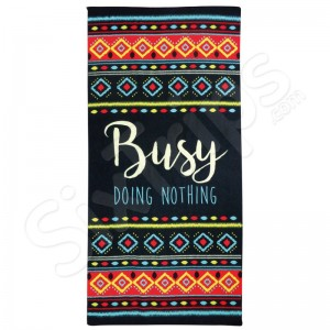 """Плажна кърпа Alfreco """"Busy doing nothing"""""""