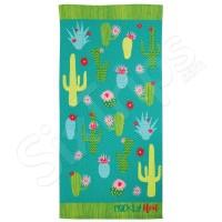 "Зелена кърпа за плаж Alfresco ""Prickly Heat Cactus"""