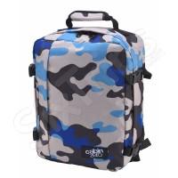 Пътна чанта и раница Cabin Zero Mini за Wizz Air, син камуфлаж 28л