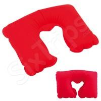 Мека червена надуваема възглавница