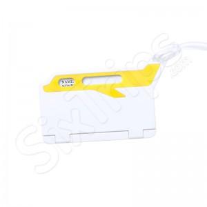 Eтикет за багаж със самолетче Mufix, жълт