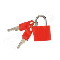 Червен катинар за багаж с ключ - 2 броя