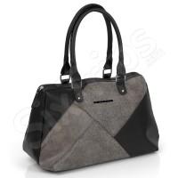 Стилна сиво-черна дамска чанта Gabol Saphir