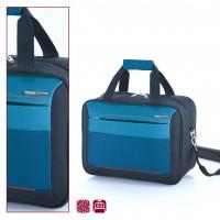 Синя пътна чанта с преден джоб Reims 40см.