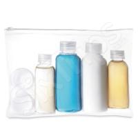 Комплект бутилки и бурканчета за пътуване в ръчния багаж
