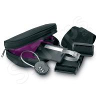 Комплект за пътуване - катинар, етикет и колан за куфар