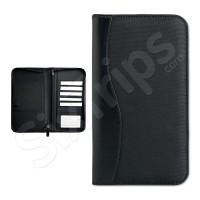 Луксозен черен портфейл за документи при пътуване