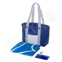 Комплект плажна чанта, кърпа и ключодържател