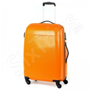 Свеж оранжев голям куфар 116л Puccini Voyager