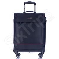 Малък текстилен черен куфар за ръчен багаж 55см Puccini Amsterdam