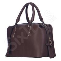 Тъмнокафява елегантна дамска чанта Puccini BT26343