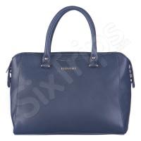 Класическа дамска чанта Puccini в стилно тъмно синьо