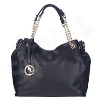 Дамска чанта с модерни дръжки Puccini в черно