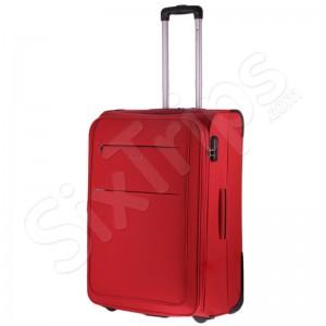 Голям червен куфар с две колела Puccini Camerino