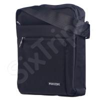 Вертикална чанта за рамо Puccini в изискан черен цвят, 28см