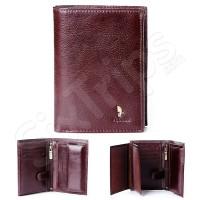 Кафяв портфейл от естествена кожа Puccini Masterpice