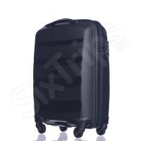 Изискан черен твърд куфар с модерен дизайн Puccini Acapulco 55см