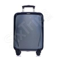 Луксозен малък куфар за ръчен багаж поликарбонат Puccini London, син