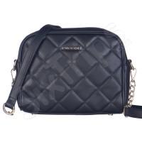 Черна модерна дамска чанта с презрамка Puccini 25см