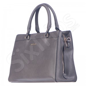 Дамска чанта в изискан сив цвят Puccini