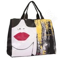 Черна модерна дамска плажна чанта