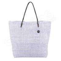 Лилава изчистена чанта за плаж - канап