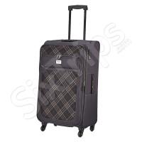Голям стилен черен куфар Travelite Rombo L